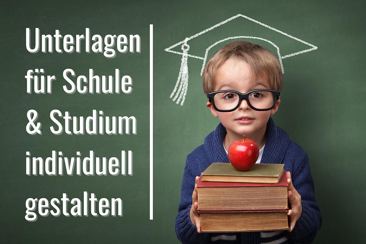 Unterlagen für Schule und Studium individuell gestalten bei der Weyhe Werbung