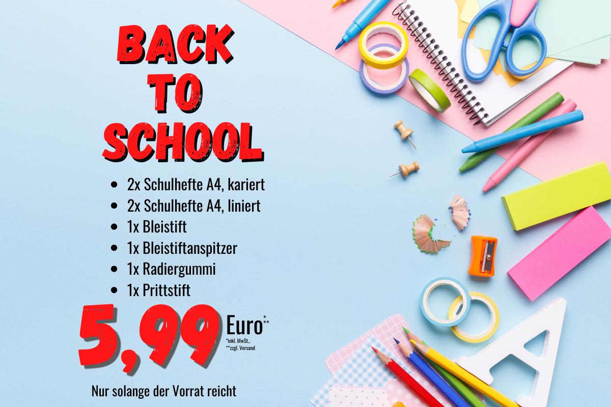 Angebot zum Schulstart in Niedersachsen und Bremen